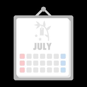 7月のカレンダーのイラスト