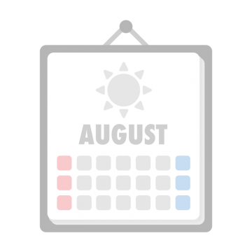 8月のカレンダーのイラスト