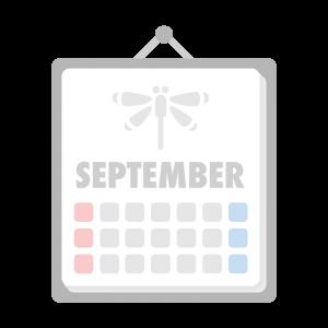 9月のカレンダーのイラスト