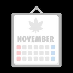 11月のカレンダーのイラスト