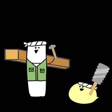 大工をイメージしたキャラクターイラスト