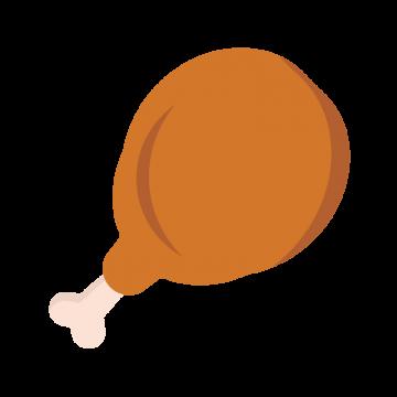 シンプルなフライドチキンのイラスト