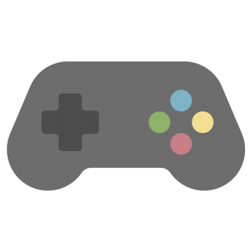 十字キーと4つのボタンがあるゲームコントローラーのイラスト