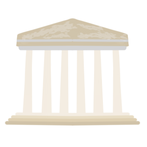 ギリシャのパルテノン宮殿風のイラスト