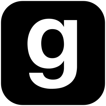 アルファベットgのアイコンシルエット