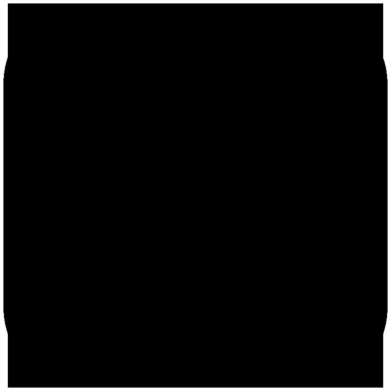 アルファベットnのアイコンシルエット