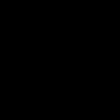 アルファベットqのアイコンシルエット