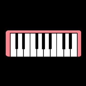 ピンクの鍵盤ハーモニカのイラスト