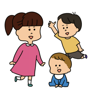 保育園の子どもたちのイラスト