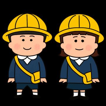 制服を着た幼稚園児の男女のイラスト
