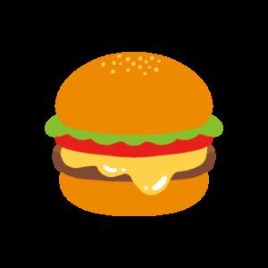 シンプルなハンバーガーのイラスト