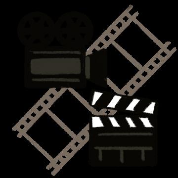 映画のフィルムをイメージしたイラスト