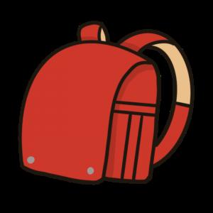 シンプルな赤いランドセルのイラスト