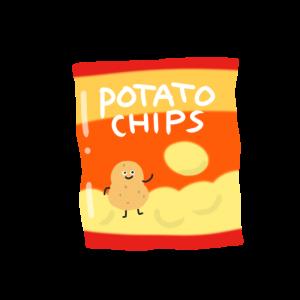 ポテトチップスをイメージしたイラスト