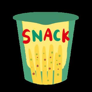 ステック状のスナック菓子のイラスト