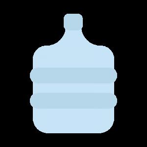 シンプルなウォーターサーバーのボトルのイラスト