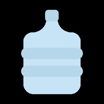 ウォーターサーバーのボトルのイラスト