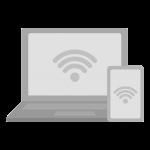インターネット接続しているパソコンとスマホのイラスト