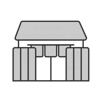 シンプルな和風の建物のイラスト