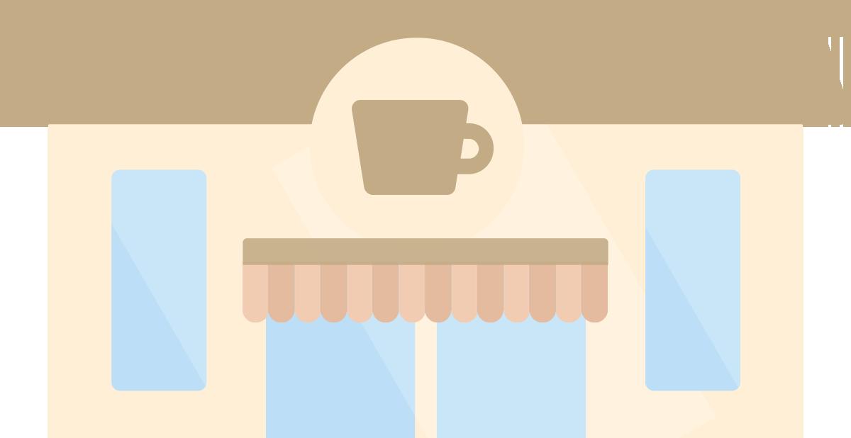 カフェの外観のイラスト