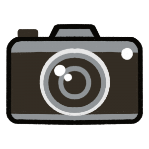 レトロなカメラのイラスト