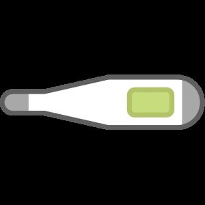 シンプルな体温計のイラスト