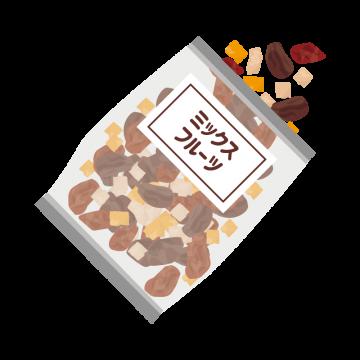 袋に入ったミックスフルーツのイラスト