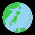 シンプルな地球のイラスト