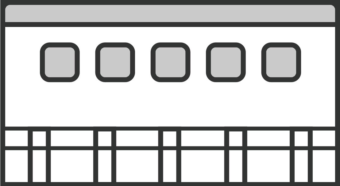 シンプルな製品工場の建物のイラスト