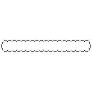雲のボトムテロップのイラスト