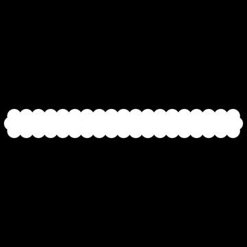 黒の枠線つき 雲のボトムテロップのイラスト