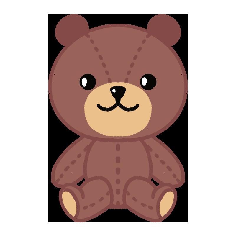 クマのぬいぐるみのイラスト