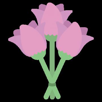 3本のバラのイラスト