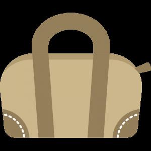 シンプルな旅行カバンのイラスト