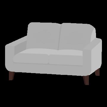 二人用のソファのイラスト