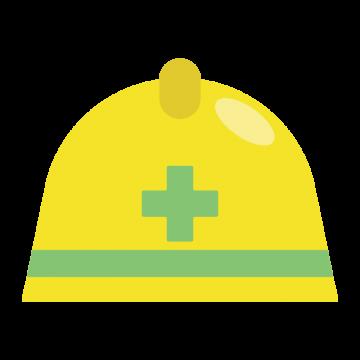 工場で使う安全ヘルメットのイラスト