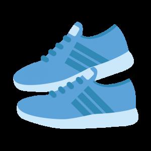 青いスニーカーのイラスト