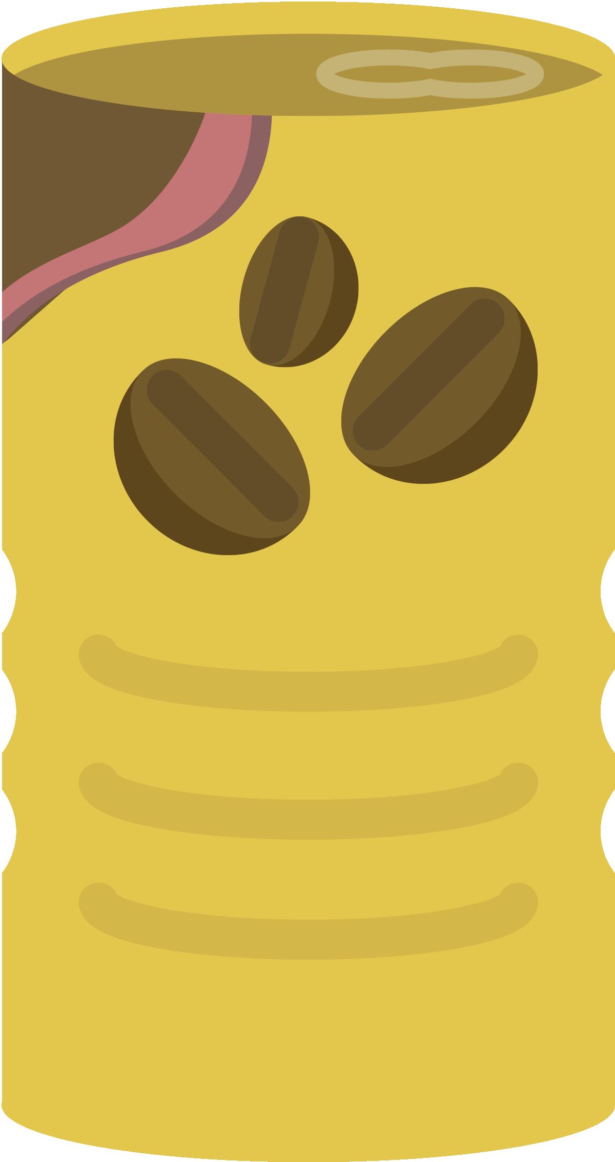 自動販売機のコーヒー缶のイラスト