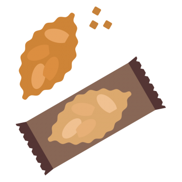 おやつのクッキーのイラスト