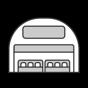 シンプルな出店のイラスト