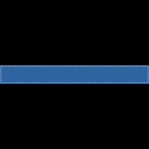 青い背景に白い波線のふちがあるボトムテロップのイラスト