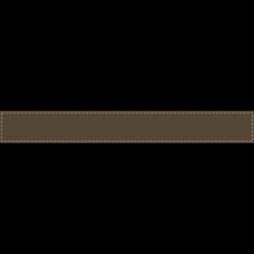 茶色背景にベージュの波線のふちがあるボトムテロップのイラスト