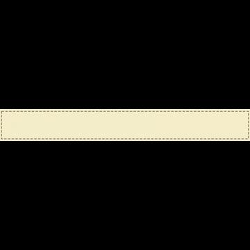 ベージュの背景に茶色い波線のふちがあるボトムテロップのイラスト
