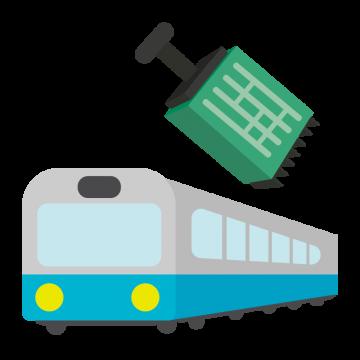 鉄道の電気制御機器のイラスト