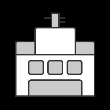 アンテナが付いているシンプルな電子部品工場のイラスト