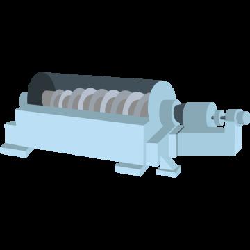 遠心分離機のイラスト