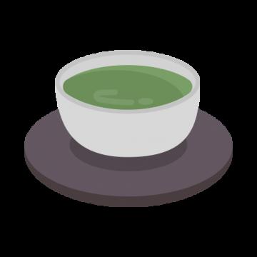 湯呑みに入った日本茶のイラスト