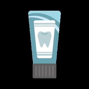チューブの歯磨き粉のイラスト