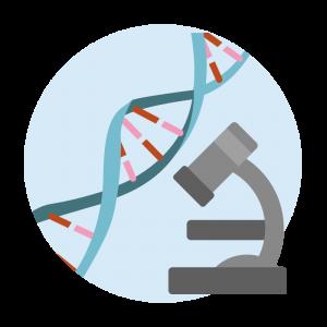 遺伝子の研究のイラスト