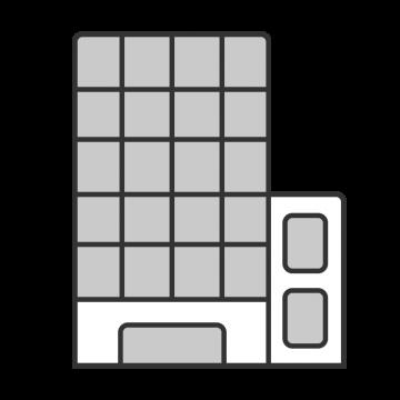 シンプルな大企業の建物のイラスト